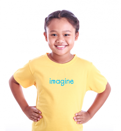 Toddler girl T-shirt with positive words on it