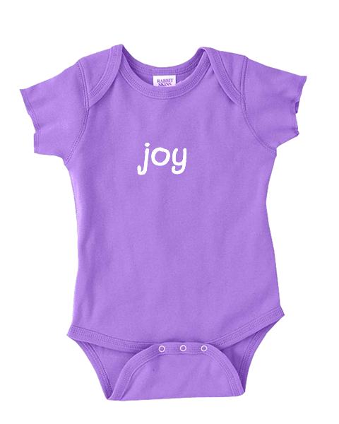 Infant Onesie with positive words on it