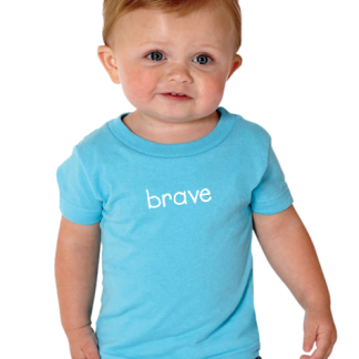 Infant T-shirt with positive words on it