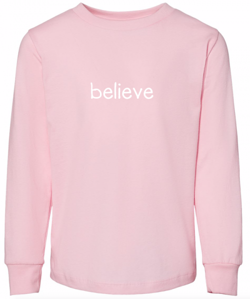 Toddler Long Sleeve T-Shirt with positive words